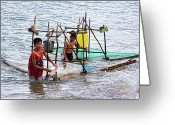 Cebucity Greeting Cards - Filipino Fishing Greeting Card by James Bo Insogna