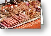 Cebucity Greeting Cards - Filipino Meat Greeting Card by James Bo Insogna