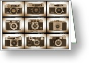 White Digital Art Greeting Cards - Film Camera Proofs 2 Greeting Card by Mike McGlothlen