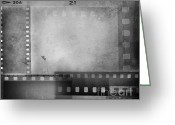 Montage Greeting Cards - Film negatives  Greeting Card by Les Cunliffe