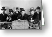Gangsters Greeting Cards - Film Still: Gangsters Greeting Card by Granger