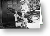 Bowtie Greeting Cards - Film Still: Hammock, 1929 Greeting Card by Granger