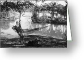 Film Still Photo Greeting Cards - Film Still: Hammock Greeting Card by Granger