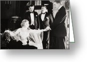 Tuxedo Greeting Cards - Film Still: Phantom Foe Greeting Card by Granger