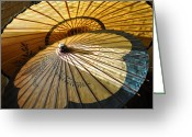 Umbrellas Greeting Cards - Filtered Light Greeting Card by Jan Amiss Photography