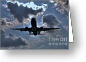 Convention Photography Atlanta Greeting Cards - Final Approach Home Greeting Card by Corky Willis Atlanta Photography
