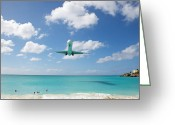 Airplane Greeting Cards - Final Approach Greeting Card by Kim Fearheiley