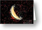 Lunar Greeting Cards - Final Frontier Fiesta Greeting Card by Al Powell Photography USA