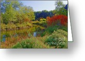 Autumns Mixed Media Greeting Cards - Final touch of Autumn Magic - Idaho Scenery Greeting Card by Photography Moments - Sandi