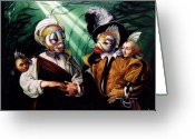 Baroque Greeting Cards - Finamorata Greeting Card by Patrick Anthony Pierson