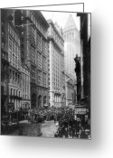 Trader Greeting Cards - FINANCIAL CENTER, c1920 Greeting Card by Granger