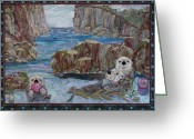 Life Tapestries - Textiles Greeting Cards - Finders keepers Greeting Card by Kathy McNeil