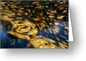Fall Photographs Greeting Cards - Finding Center - Autumn Abstract Greeting Card by Steven Milner