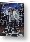 Michael Jackson Greeting Cards - Finding Forever Greeting Card by Michele Fusco