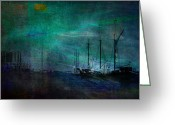 Storm Digital Art Greeting Cards - Finding Home Greeting Card by Robin Webster