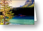 Log Cabins Photo Greeting Cards - Finding Inner Peace Greeting Card by Karen Wiles