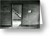 Old Cabins Photo Greeting Cards - FINDING the OTHER SIDE Greeting Card by Karen Wiles