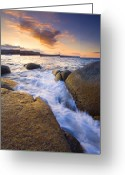 Cracks Greeting Cards - Finding the Seams Greeting Card by Mike  Dawson