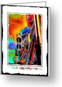 Motorcycle Art Greeting Cards - Fine Art Chopper I Greeting Card by Mike McGlothlen