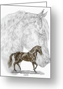 Gaited  Horse Greeting Cards - Fine Steps - Paso Fino Horse Print color tinted Greeting Card by Kelli Swan