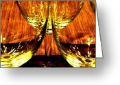 Will Greeting Cards - Fine Wine And Dine 3 Greeting Card by Will Borden