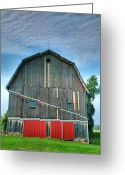 Country Framed Print Greeting Cards - Finger Lakes Barn IV Greeting Card by Steven Ainsworth