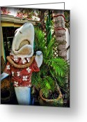 The Buffet Photo Greeting Cards - Fins To The Left Greeting Card by Joan  Minchak
