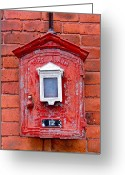 Alarm Greeting Cards - Fire Alarm Box No. 12 Greeting Card by Richard Mansfield