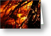 Aflame Greeting Cards - Fire and Ice Greeting Card by Brittany H