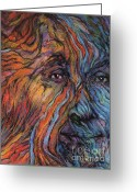 Spiritual Art Pastels Greeting Cards - Fire and Water Greeting Card by Alyssa  Hinton