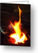 Shamanic Photo Greeting Cards - Fire-Dance No. 01 Greeting Card by Ramon Labusch