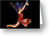 Sacrifice Greeting Cards - Fire Dancer Greeting Card by Cindy Singleton