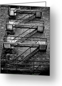 Juliet Greeting Cards - Fire Escape Greeting Card by Odd Jeppesen