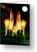 Linda D Seacord Greeting Cards - Fire Fly Greeting Card by Linda Seacord
