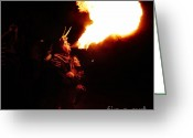 Pyrotechnics Greeting Cards - Fire girl Greeting Card by Agusti Pardo Rossello