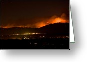 Striking Photography Greeting Cards - Fire In The Mountains No Lightning in The Air  Greeting Card by James Bo Insogna