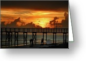 Bill Cannon Greeting Cards - Fire in the Sky Greeting Card by Bill Cannon