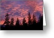 Kamloops Greeting Cards - Fire in the sky  Greeting Card by Pierre Leclerc