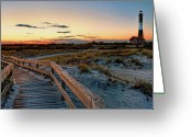 Long Island Greeting Cards - Fire Island Lighthouse at Robert Moses State Park Greeting Card by Jim Dohms