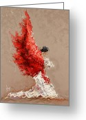 Acting Greeting Cards - Fire Greeting Card by Karina Llergo Salto