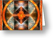 Sacred Geometry Greeting Cards - Fire Light Greeting Card by Bell And Todd