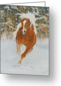 Fire Pastels Greeting Cards - Fire N Ice Greeting Card by Louise Green