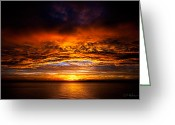 Ocularperceptions Greeting Cards - Fire Over Lake Eustis Greeting Card by Christopher Holmes
