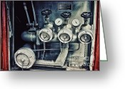 Indicator Greeting Cards - Fire Pump Greeting Card by Jutta Maria Pusl