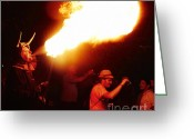 Pyrotechnics Greeting Cards - Fire stroke Greeting Card by Agusti Pardo Rossello