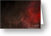 Aflame Greeting Cards - Fire Within Greeting Card by P Russell