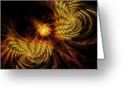 Firebird Greeting Cards - Firebird Greeting Card by John Edwards