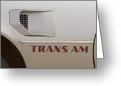 Logos Greeting Cards - Firebird Trans Am Front Corner Panel Vent Greeting Card by James Bo Insogna