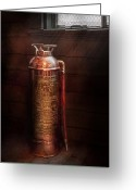 Fire Hose Greeting Cards - Fireman - Alert  Greeting Card by Mike Savad