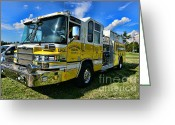 County Fair Greeting Cards - Fireman - Amwell Valley Fire Co. Greeting Card by Paul Ward